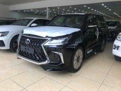 Giao ngay Lexus LX570 MBS 4 ghế massage, cửa hít mới 100% 2019 màu đen, nội thất nâu da bò