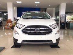 Cần bán Ford EcoSport 1.5 Titanium đời 2019, màu trắng, giá chỉ 595 triệu