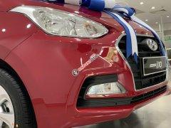 Hyundai Grand i10 sedan MT đỏ nhận xe ngay chỉ với 130tr, hỗ trợ đăng ký Grab, tặng bộ PK cao cấp, hỗ trợ vay trả góp