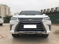 Cần bán gấp Lexus LX 570 2018, màu trắng, xe nhập Mỹ lăn bánh chưa tới 1 vạn