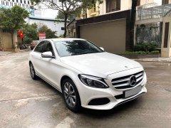 Mercedes C200 sản xuất 2018 màu trắng, nội thất kem đăng ký lần đầu cuối 2018, hộp số 9 cấp