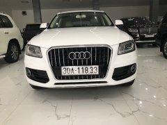 Bán nhanh Audi Q5 màu trắng xe sản xuất 2013, đăng ký 2014, tư nhân một chủ từ đầu