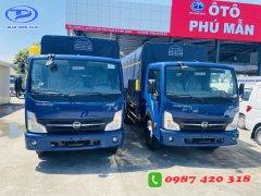 Xe tải NISSAN 1T9 thùng mui bạc 4m3 . Hỗ trợ trả góp đến 80% giao xe ngay