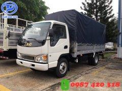 Xe tải JAC 2T45 thùng mui bạt. Hỗ trợ trả góp đến 80%